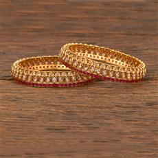 207694 Antique Classic Bangles With Gold Plating