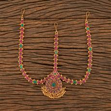207724 Antique South Indian Damini With Matte Gold Plating