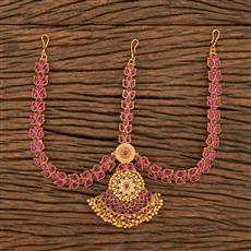 207725 Antique South Indian Damini With Matte Gold Plating