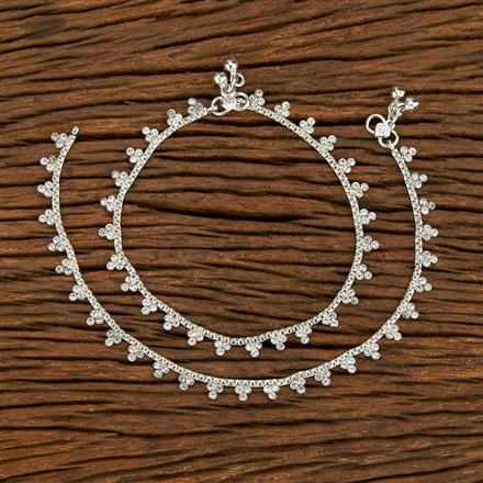 207738 Antique Delicate Payal With Rhodium Plating