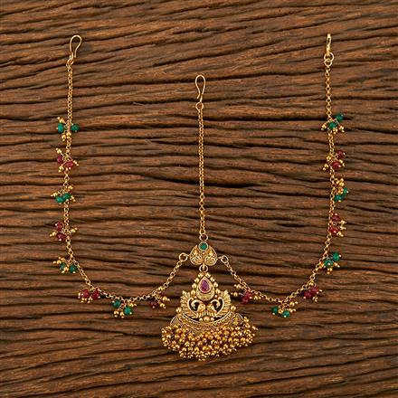 207746 Antique Peacock Damini With Gold Plating