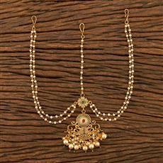 207747 Antique Peacock Damini With Gold Plating