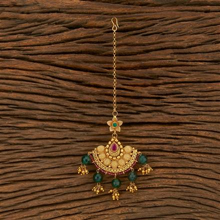207749 Antique Chand Tikka With Gold Plating