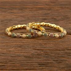 207763 Antique Classic Bangles With Gold Plating