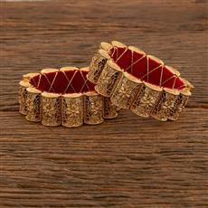 207771 Antique Plain Bangles With Gold Plating