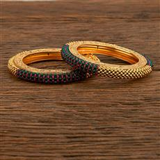 207778 Antique Classic Bangles With Gold Plating