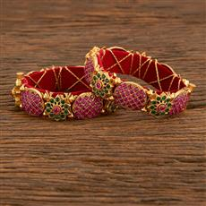 207780 Antique Openable Bangles With Gold Plating