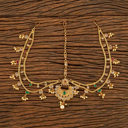 207785 Antique Chand Damini With Gold Plating