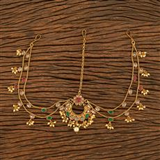 207787 Antique Chand Damini With Gold Plating