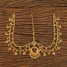 207788 Antique Chand Damini With Gold Plating
