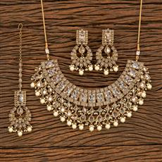 207790 Antique Classic Necklace With Mehndi Plating