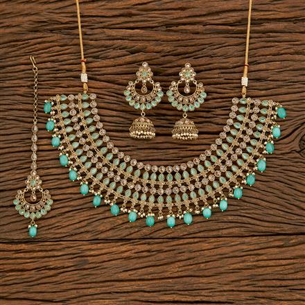 207791 Antique Classic Necklace With Mehndi Plating