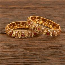 207795 Antique Openable Bangles With Gold Plating