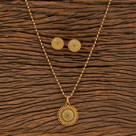 207798 Antique Delicate Pendant Set With Gold Plating