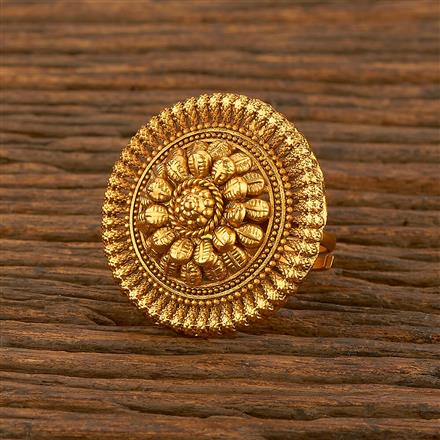 207810 Antique Plain Ring With Gold Plating