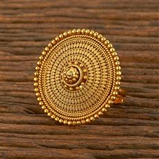 207811 Antique Plain Ring With Gold Plating