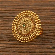 207812 Antique Classic Ring With Gold Plating