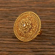 207813 Antique Classic Ring With Gold Plating