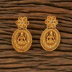 207816 Antique Temple Earring With Gold Plating