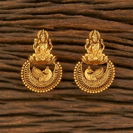 207820 Antique South Indian Earring With Gold Plating
