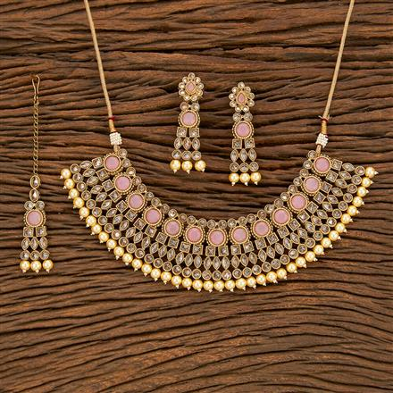 207826 Antique Classic Necklace With Mehndi Plating