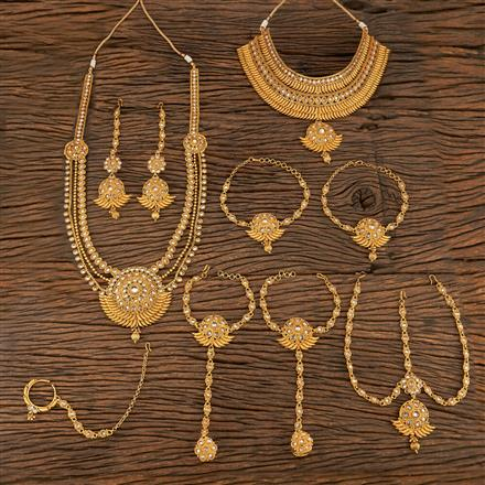 207827 Antique Bridal Sets With Gold Plating