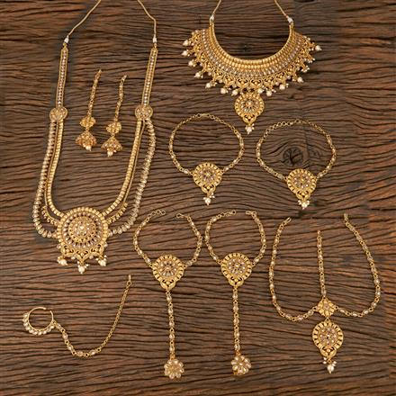 207828 Antique Bridal Sets With Gold Plating