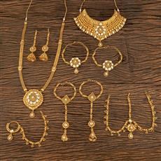 207829 Antique Bridal Sets With Gold Plating