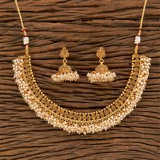 207830 Antique Pearl Necklace With Gold Plating