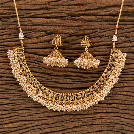 207831 Antique Pearl Necklace With Gold Plating