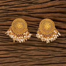 207832 Antique Plain Earring With Gold Plating