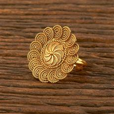 207838 Antique Plain Ring With Gold Plating