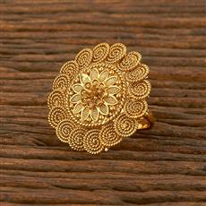 207839 Antique Plain Ring With Gold Plating