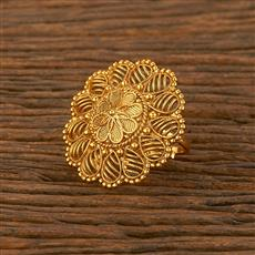 207840 Antique Plain Ring With Gold Plating