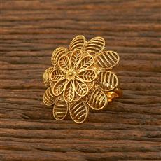 207841 Antique Plain Ring With Gold Plating