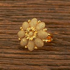 207842 Antique Plain Ring With Gold Plating