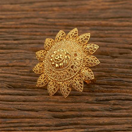 207843 Antique Plain Ring With Gold Plating