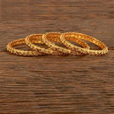 207857 Antique Delicate Bangles With Gold Plating