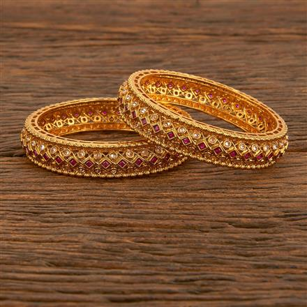 207858 Antique Classic Bangles With Gold Plating