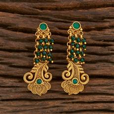 207874 Antique Delicate Earring With Matte Gold Plating