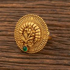 207881 Antique Classic Ring With Matte Gold Plating