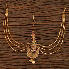207891 Antique Chand Damini With Gold Plating