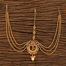207892 Antique Chand Damini With Gold Plating