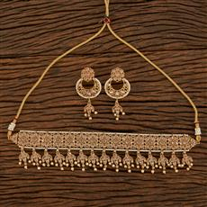 207905 Antique Choker Necklace With Gold Plating