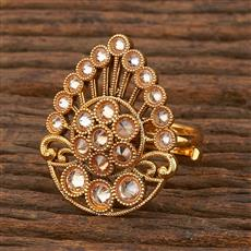 207908 Antique Classic Ring With Gold Plating