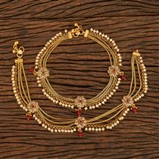 207913 Antique Classic Payal With Gold Plating