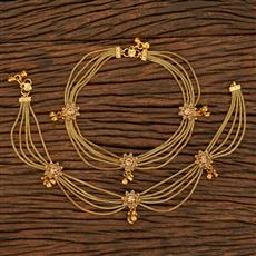 207916 Antique Classic Payal With Gold Plating