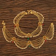 207917 Antique Classic Payal With Gold Plating