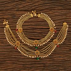 207918 Antique Classic Payal With Gold Plating