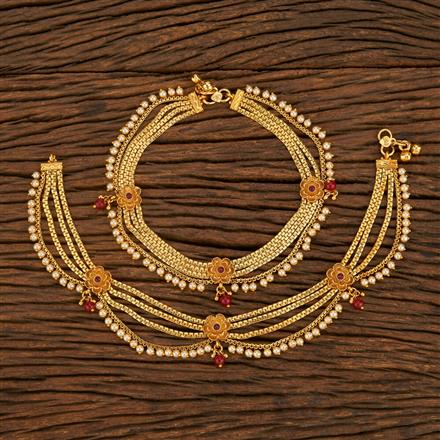 207919 Antique Classic Payal With Gold Plating